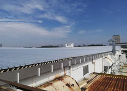 industrial projects for roof insulation